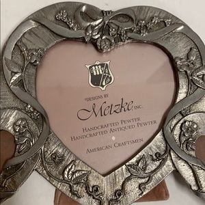 Genuine Pewter Triple Heart Picture Frame